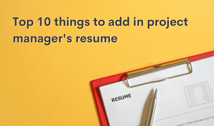 project manager's resume qualities